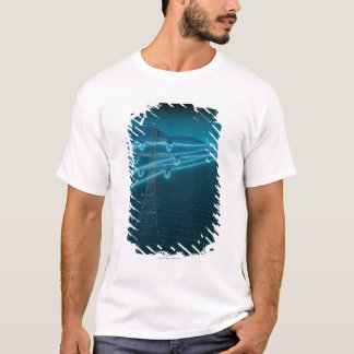 Electricity pylon with glowing power lines 2 T-Shirt