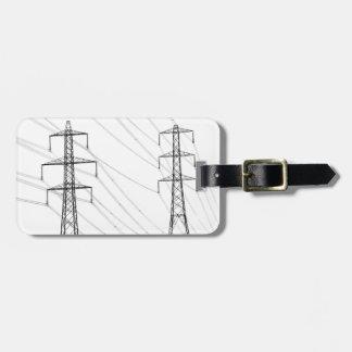 Electricity pylons bag tag