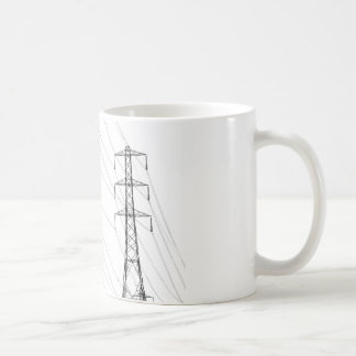 Electricity pylons coffee mug