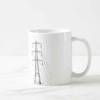 Electricity pylons coffee mugs