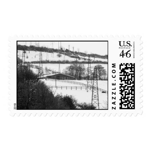 Electricity Pylons  Postage Stamp