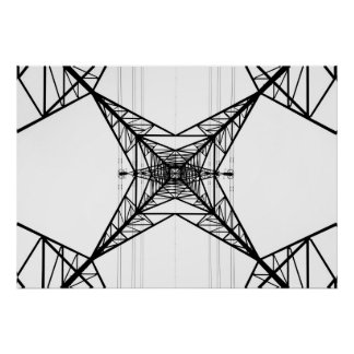 Electricity Pylons Poster/Print