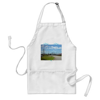 Electricity relay station adult apron