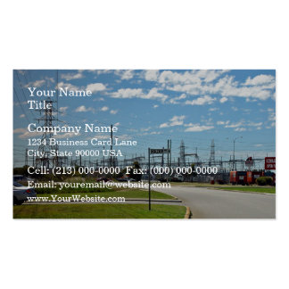 Electricity relay station Double-Sided standard business cards (Pack of 100)