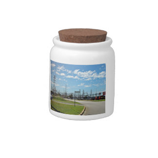 Electricity relay station candy dish