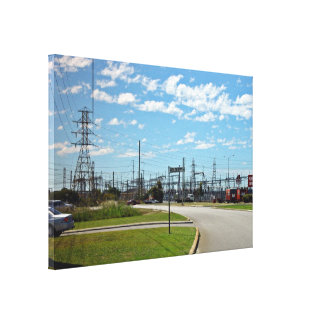Electricity relay station canvas prints