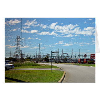 Electricity relay station greeting card