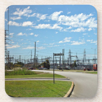 Electricity relay station drink coasters