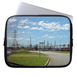 Electricity relay station laptop sleeve