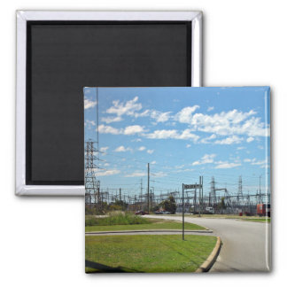 Electricity relay station magnets