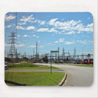 Electricity relay station mouse pad