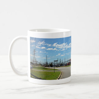 Electricity relay station classic white coffee mug