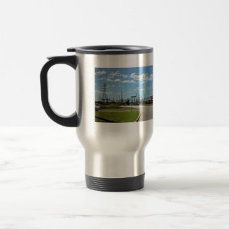 Electricity relay station 15 oz stainless steel travel mug