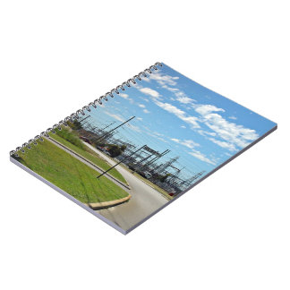 Electricity relay station spiral note books