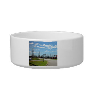 Electricity relay station cat water bowls