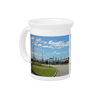 Electricity relay station beverage pitcher