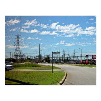 Electricity relay station postcard