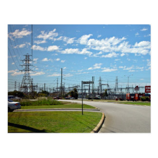 Electricity relay station post card