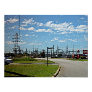 Electricity relay station print