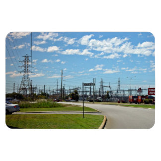 Electricity relay station rectangular magnets