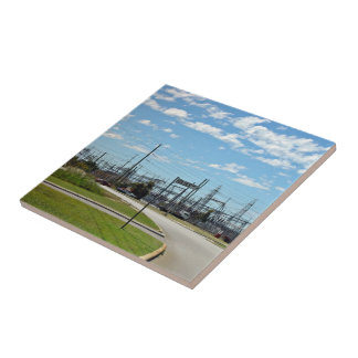 Electricity relay station ceramic tiles