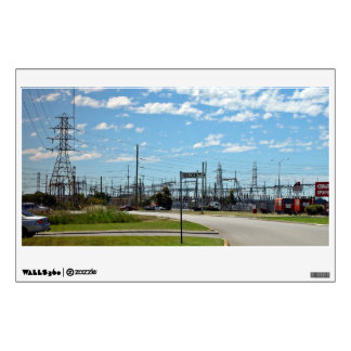 Electricity relay station room sticker