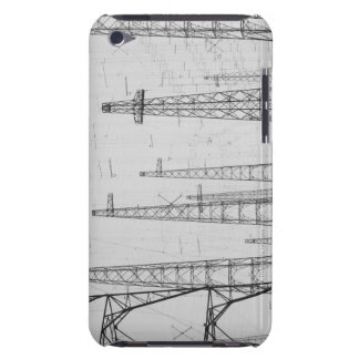 Electricity towers, Howick, Northumberland iPod Case-Mate Cases