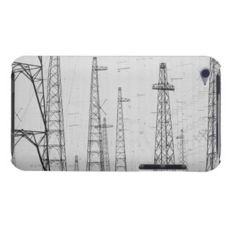 Electricity towers, Howick, Northumberland iPod Case-Mate Case
