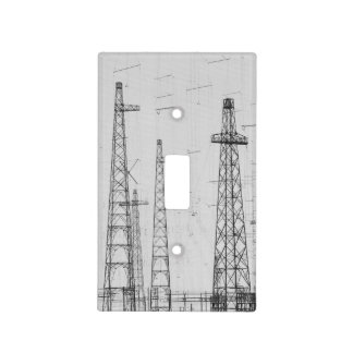 Electricity towers, Howick, Northumberland Light Switch Cover