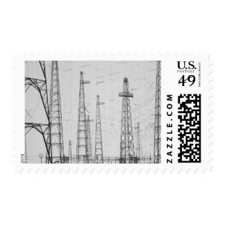 Electricity towers, Howick, Northumberland Postage