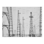 Electricity towers, Howick, Northumberland Postcard
