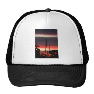 ELECTRICITY TOWERS & PINK SUNSET RURAL AUSTRALIA TRUCKER HAT