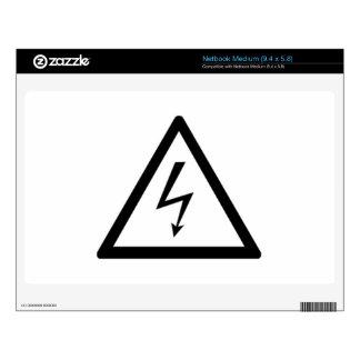 Electricity Warning Sign Skin For Medium Netbook
