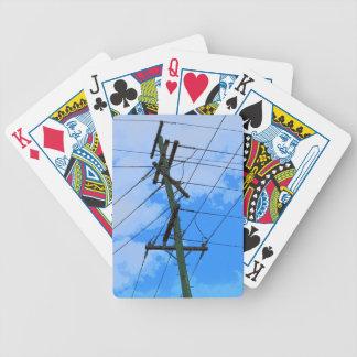 ELECTRICIY POLE RURAL QUEENSLAND AUSTRALIA POKER CARDS