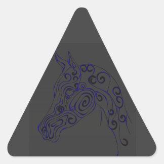 eléctrico azul pegatina triangular