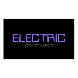 Eléctrico, electricista, bombilla de la tarjetas de visita