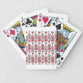 Eléctrico-guitarra-roca-roca-mano-modelo Baraja Cartas De Poker