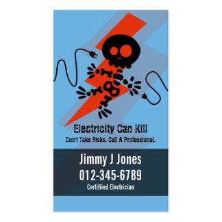 Eléctrico Zap la tarjeta de visita azul de las
