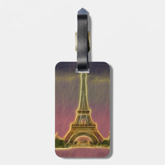 Electrified Eiffel Tower Bag Tag