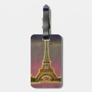 Electrified Eiffel Tower Bag Tags