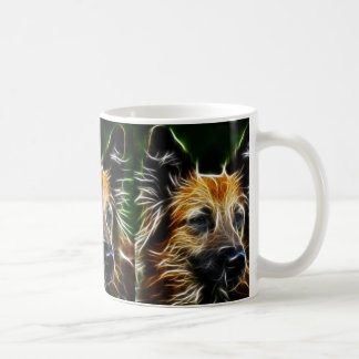 Electrified German Shepherd Classic White Coffee Mug