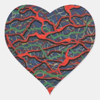 Electrified Heart Sticker