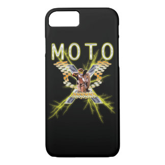 Electrified Motocross Checkered flags iPhone 8/7 Case