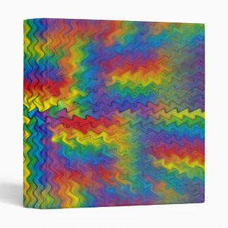 Electrified Rainbow Binder