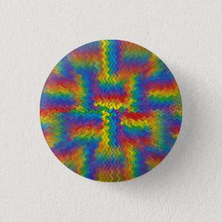 Electrified Rainbow Pinback Button
