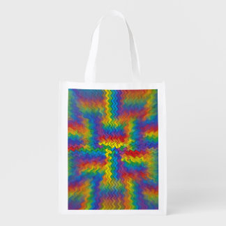 Electrified Rainbow Reusable Grocery Bag