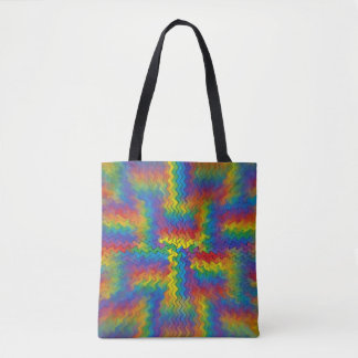 Electrified Rainbow Tote Bag