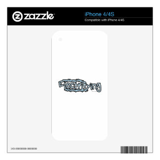 Electrifying (2) decal for iPhone 4