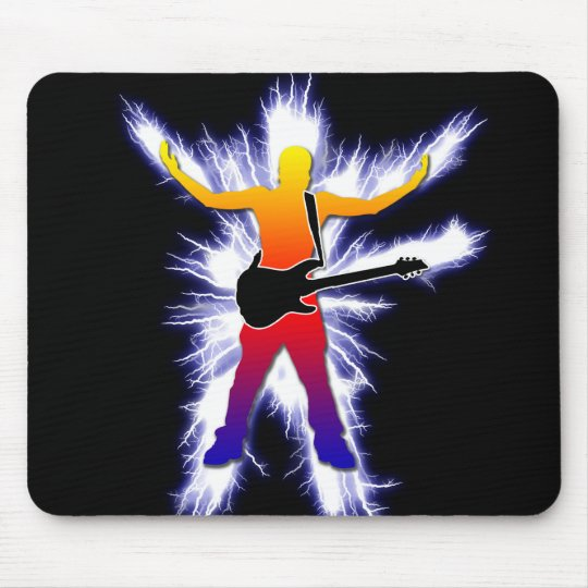Electrifying Bass Player Graphic Mouse Pad