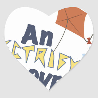 Electrifying Discovery Heart Sticker